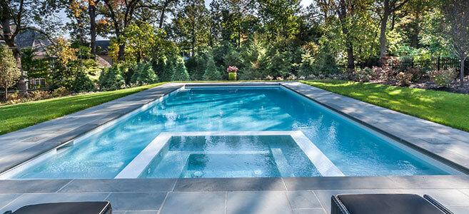 Beautiful Chicago inground pool design by Sunset Pools & Spas