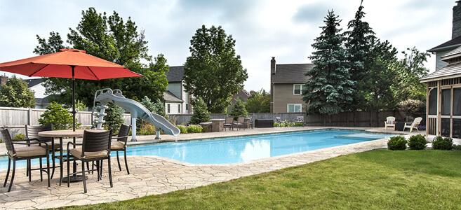 Family-friendly inground swimming pool